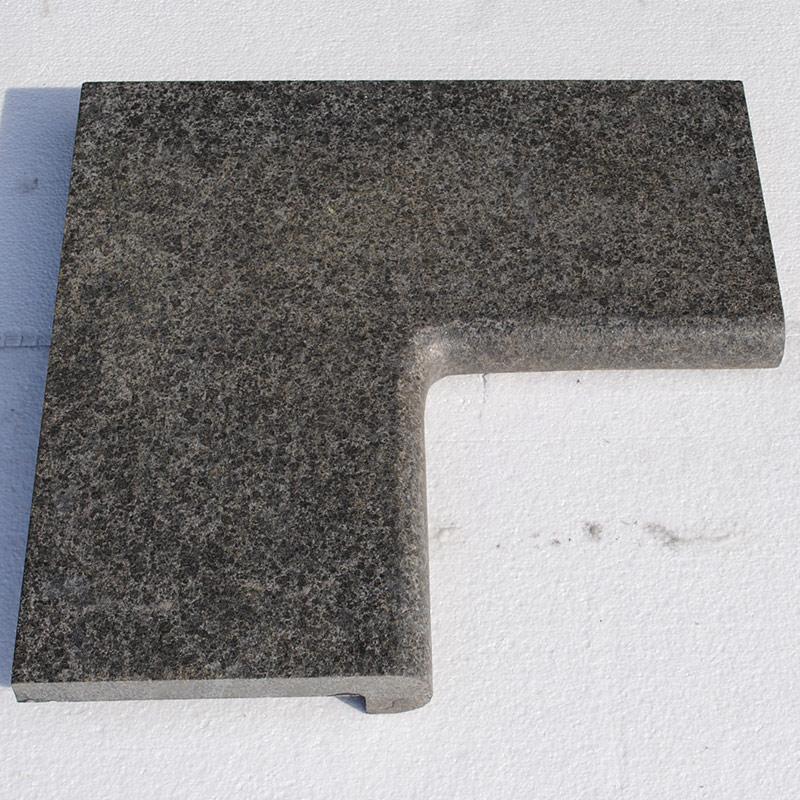 Dark grey granite g684 margelles de piscine for Piscine en granit